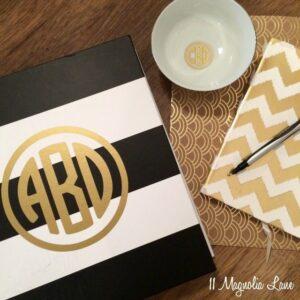 Round Monogram Giveaway | 11 Magnolia Lane
