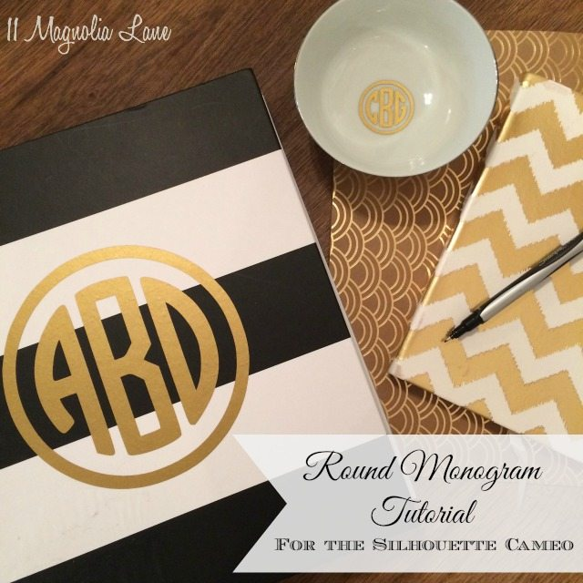 Tutorial How To Create Round Vinyl Monograms Magnolia Lane - How to make vinyl decals with silhouette cameo
