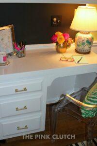 Glam & Organized Desk |The Pink Clutch Blog