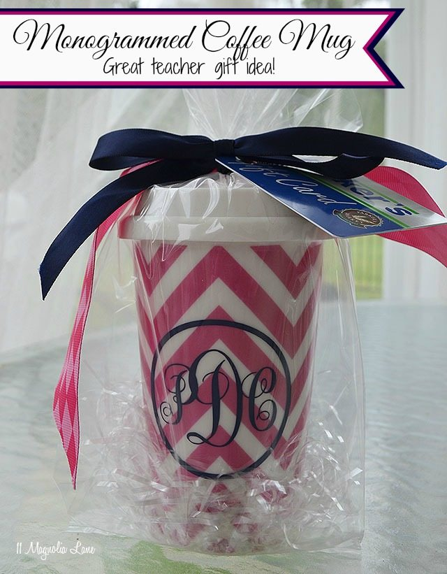 Monogrammed To Go Coffee Mug Gift Idea | 11 Magnolia Lane