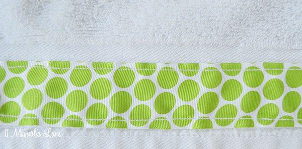 DIY Ribbon-Embellished Towels | 11 Magnolia Lane