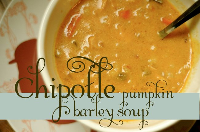 Chipotle Pumpkin Barley Soup | Life in Grace