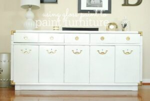 "How to paint furniture to get a ""gloss"" finish"