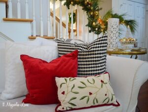 Christmas pillows | 11 Magnolia Lane