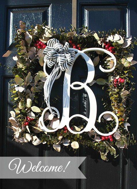 wreath on door-marked