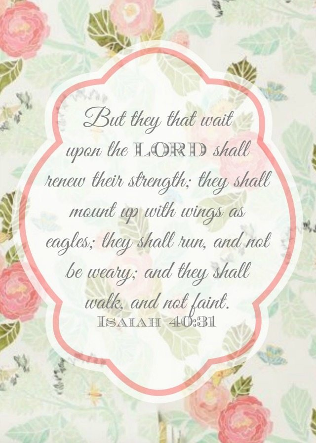 "Free printable Isaiah 40:31 ""Wings as Eagles"" 