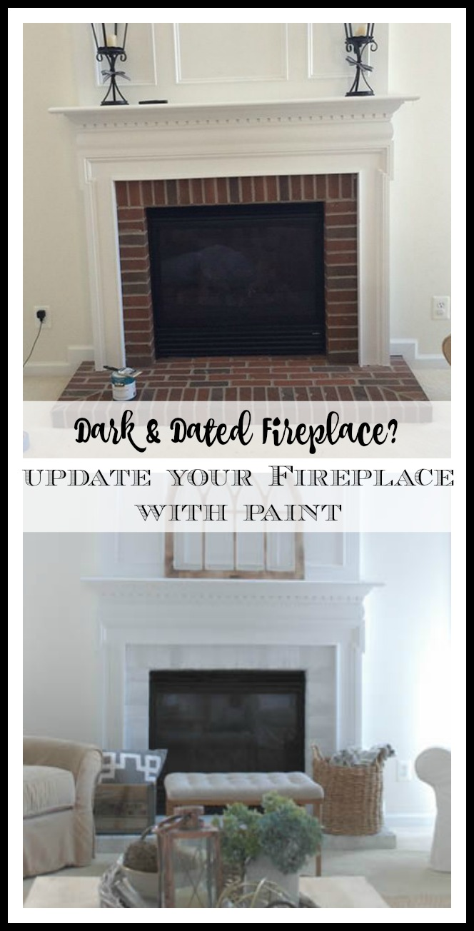 How To Update Dark Brick Fireplace With Paint