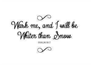 Simply on Sunday: Psalm 51:7 Printable Bible Verse | 11 Magnolia Lane