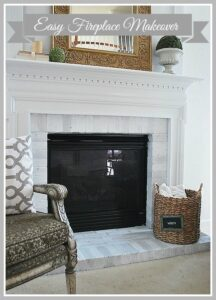 DIY Fireplace Makeover {Mohawk Creative Home}