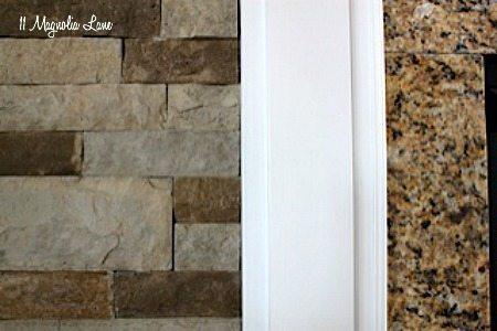 fireplace stone close-up