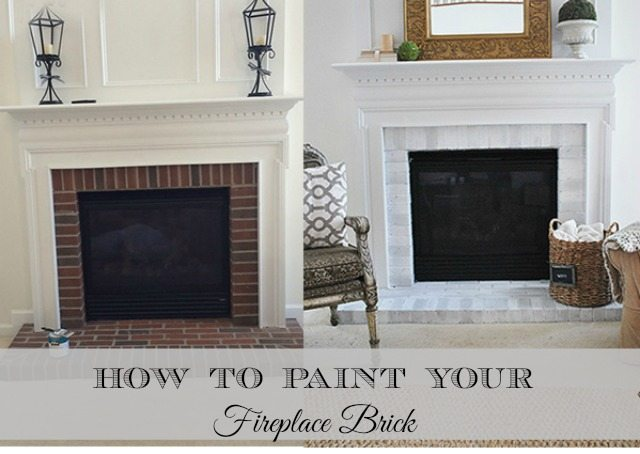 How-to paint your brick fireplace surround