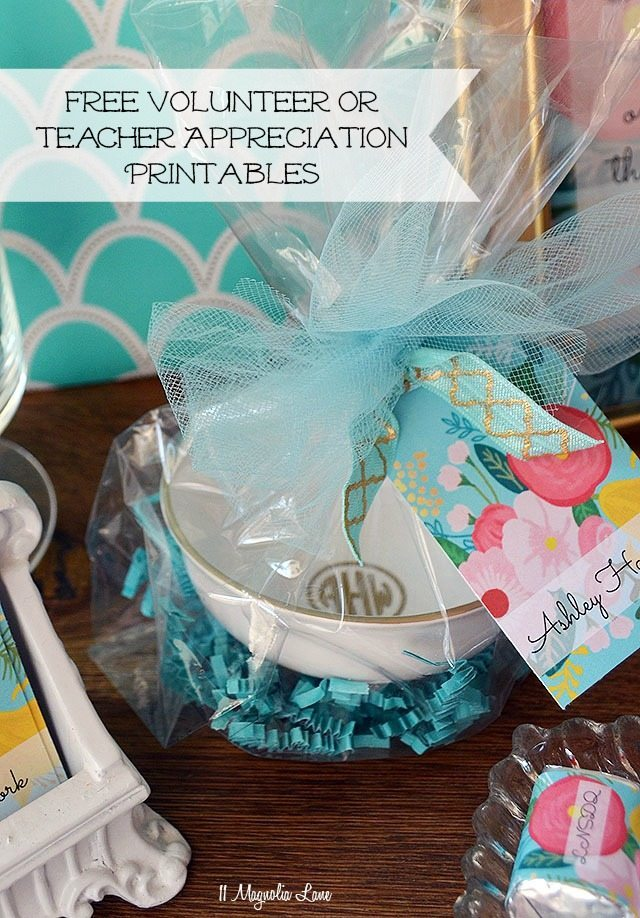 Free Volunteer or Teacher Appreciation Printables | 11 Magnolia Lane