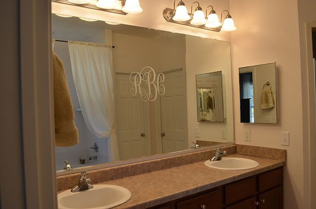 Master Bathroom Mirror Before 11 Magnolia Lane