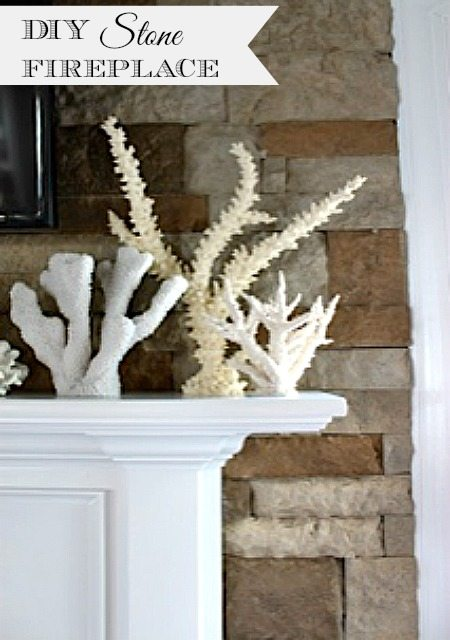 Diy Fireplace Makeover With Stacked Stone 11 Magnolia Lane
