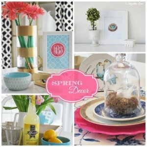 Adding Spring Decor to your Home {Mohawk Creative Home}