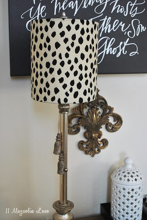 How to make a fabric covered lampshade 11 magnolia lane close up lamp aloadofball Choice Image