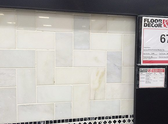 floor and decor tile display