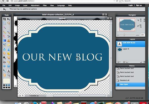 pixlr step 8 text on graphicREV