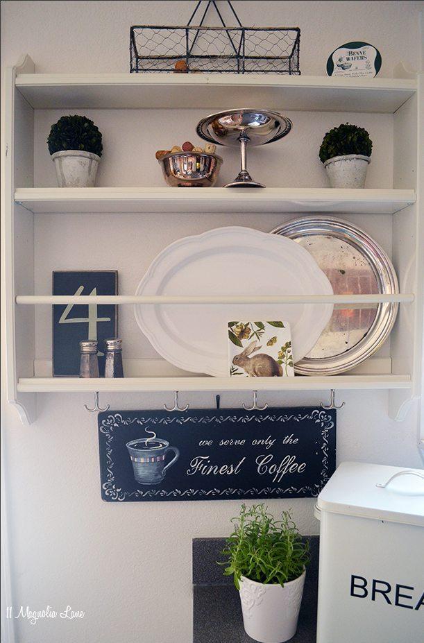 Plate rack in kitchen | 11 Magnolia Lane