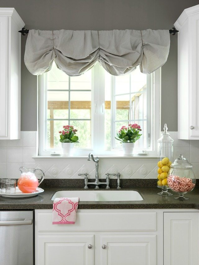 How to Make a No-Sew DIY Window Valance From Canvas Dropcloths