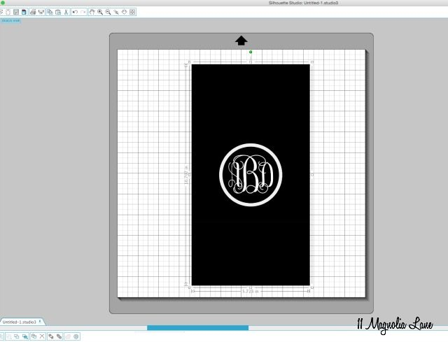 "How to create a ""vines"" vinyl monogram | 11 Magnolia Lane"