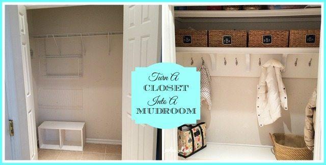 Turn Foyer Into Mudroom : How to turn a closet into mudroom magnolia lane