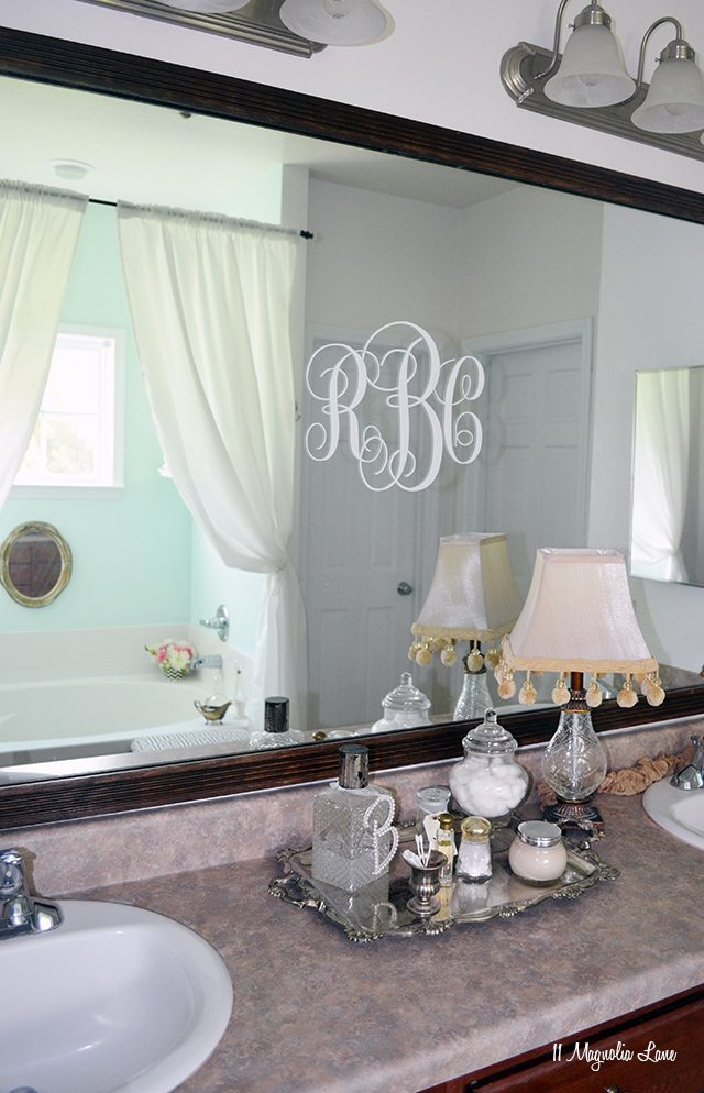 Spa-like bathroom in aqua and grey | 11 Magnolia Lane