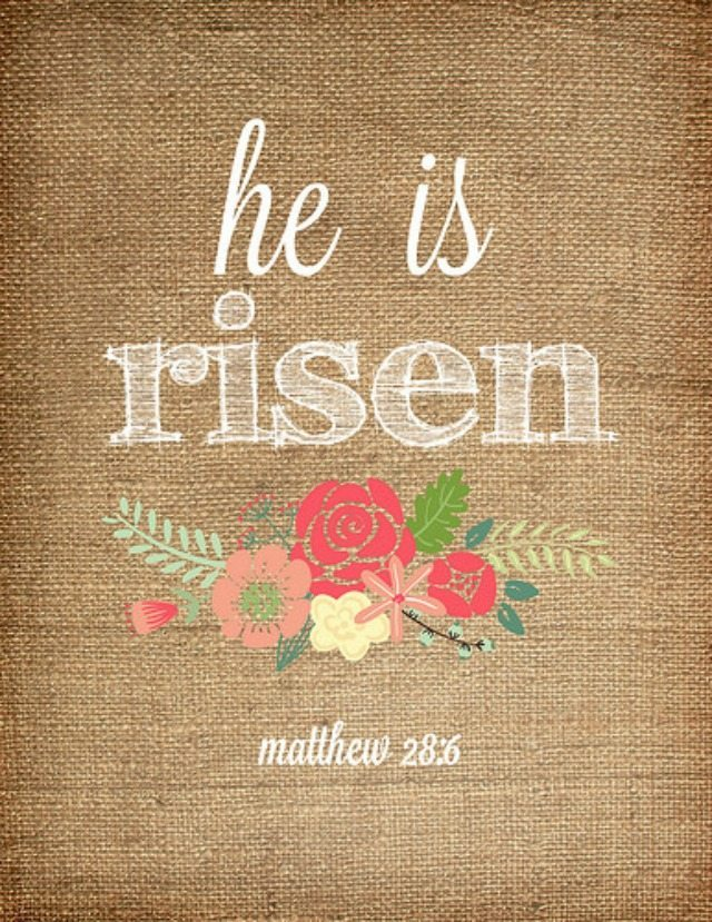 Clean image throughout he is risen printable