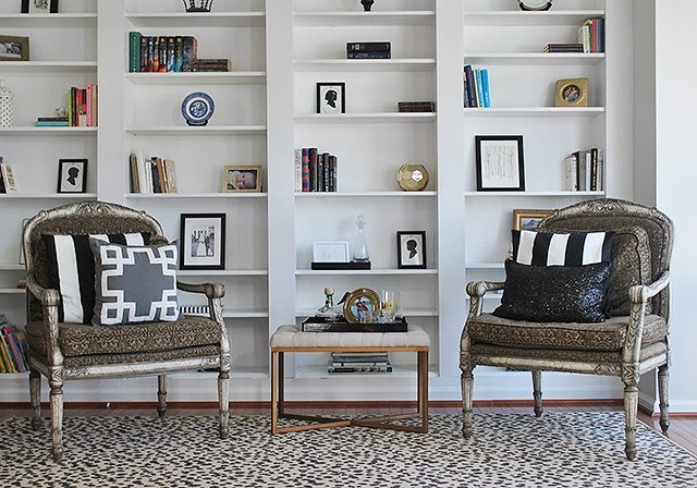 ikea-bookshelves-library-bergere-chairs