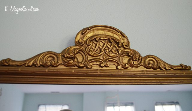 Vintage gold mirror | 11 Magnolia Lane