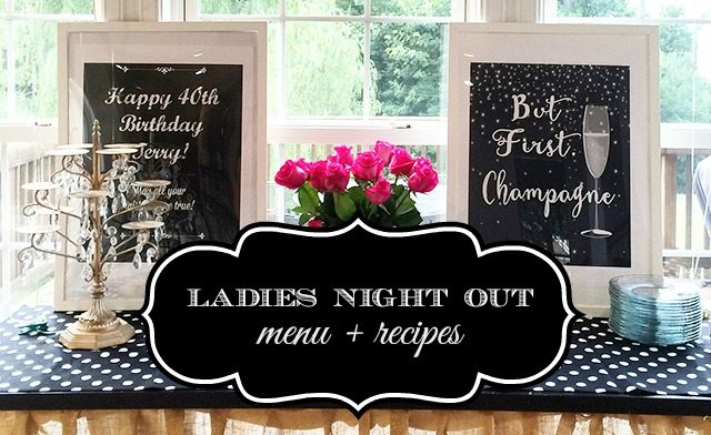 Easy appetizer & prosecco drink recipe for a Ladies Night or Birthday Celebration
