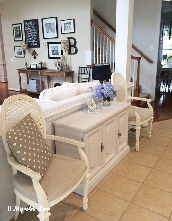 new furniture arrangement