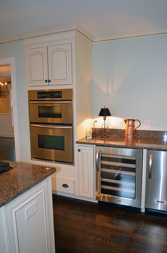 Open shelving in kitchen   11 Magnolia Lane
