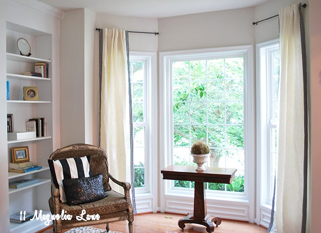Easy Greek-Key Trimmed Curtains