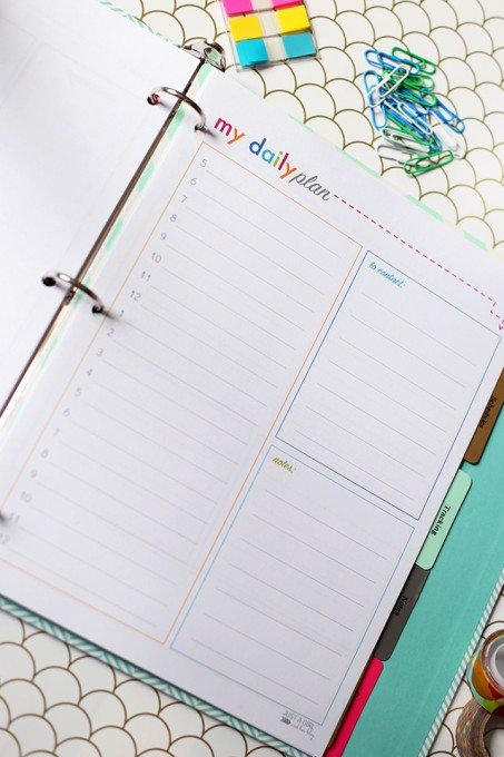 Operation: Organization– Printable Daily Planner with Abby at Just a Girl
