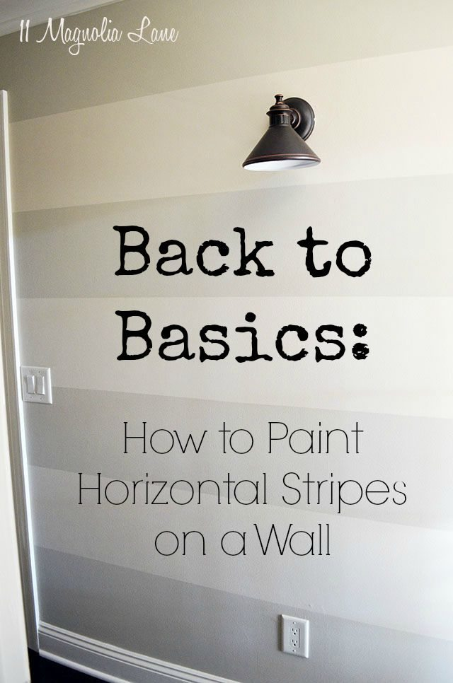 How to paint horizontal stripes on a wall | 11 Magnolia Lane