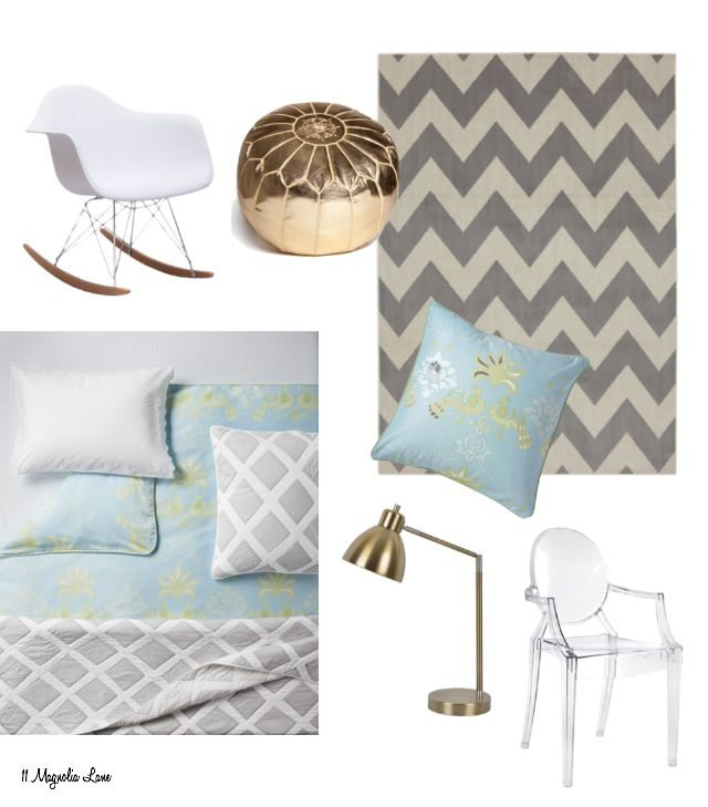 Dorm room decor inspiration board | 11 Magnolia Lane