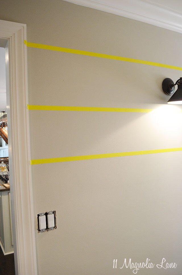 How to paint horizontal stripes on a wall   11 Magnolia Lane