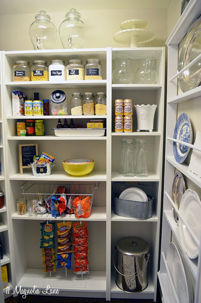 Organized Pantry With Built-In Shelving