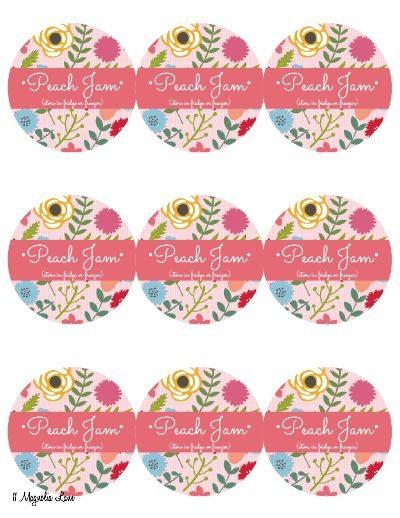 Peach freezer jam recipe and printable labels | 11 Magnolia Lane