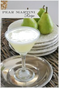 Pear Martini {A perfect Fall cocktail}