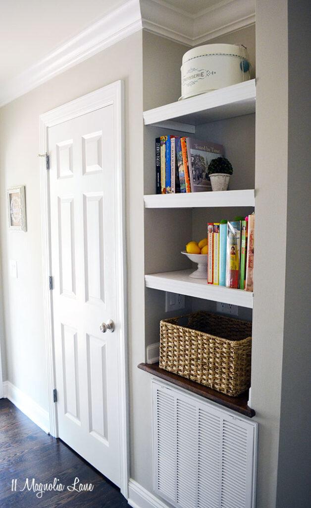 Entryway Update:  Built In Bookshelves