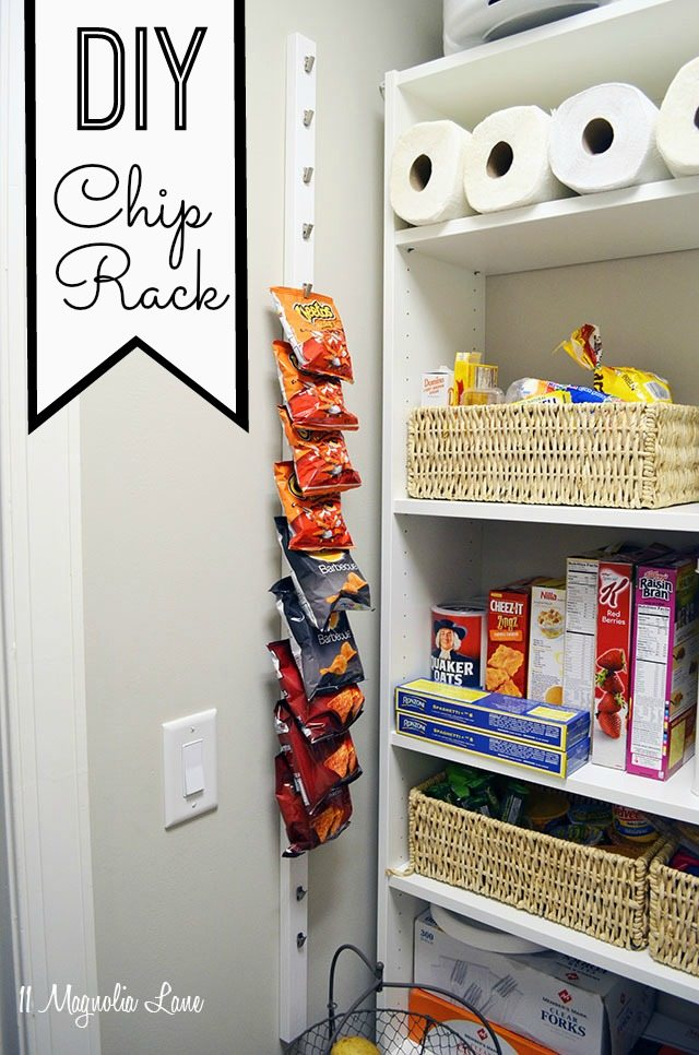 Diy 10 Pantry Chip Rack 11 Magnolia Lane