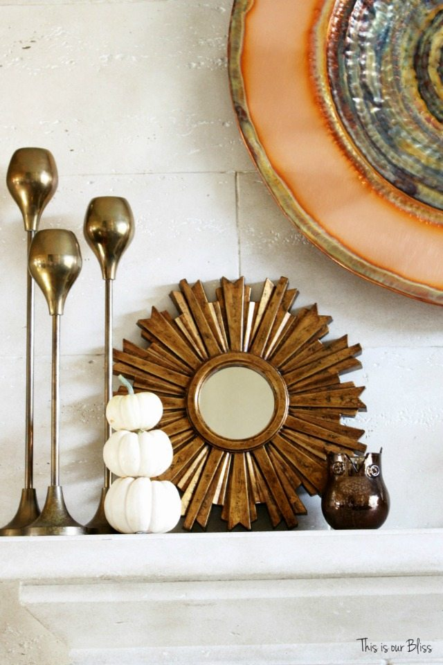 Fall mantel | This is Our Bliss