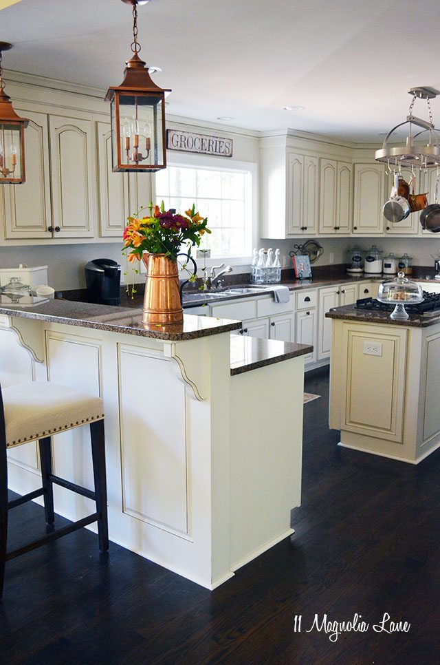 Delicieux French Country Kitchen With Off White Cabinets And Copper Accents | 11  Magnolia Lane