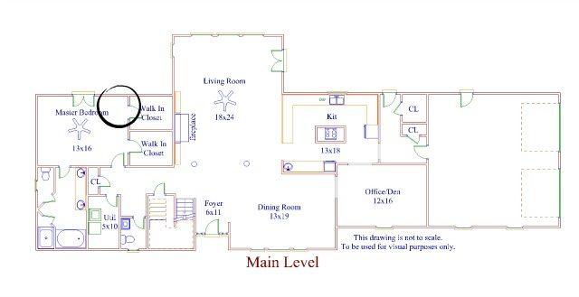 lower level floor plan-bedroom