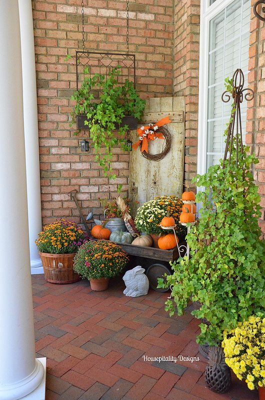 Fall front porch | Housepitality Designs