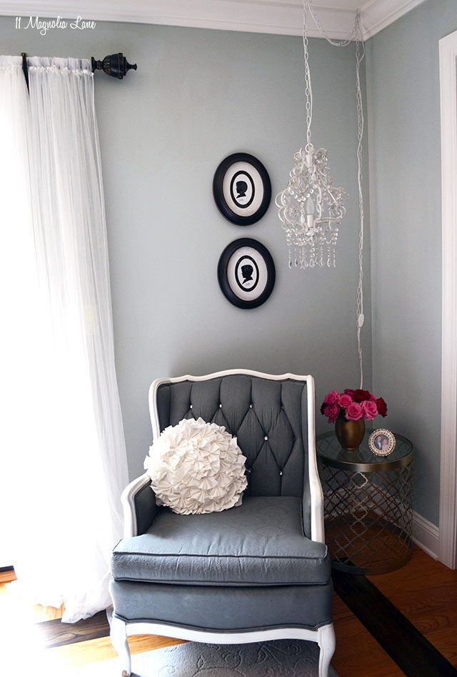 Reading area in master bedroom | 11 Magnolia Lane