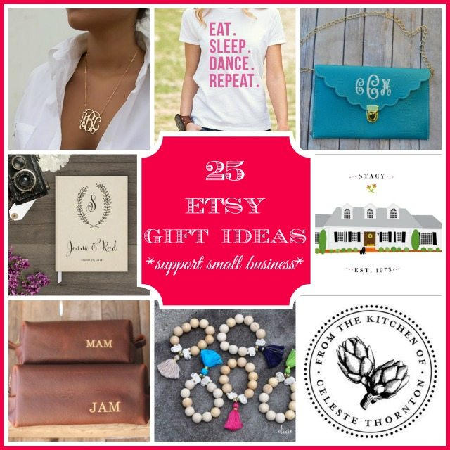 25 ETSY gift ideas for everyone on your list! {support small business!}