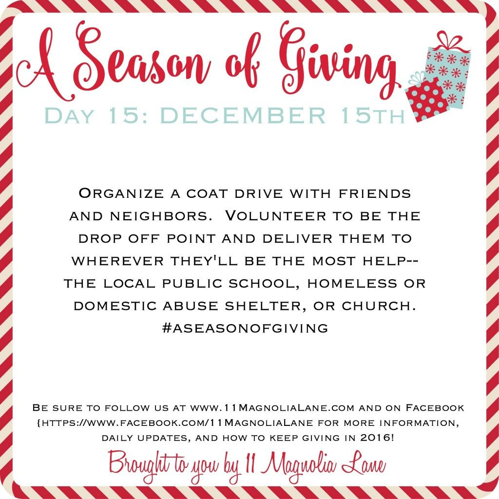 A Season of Giving: Day 15